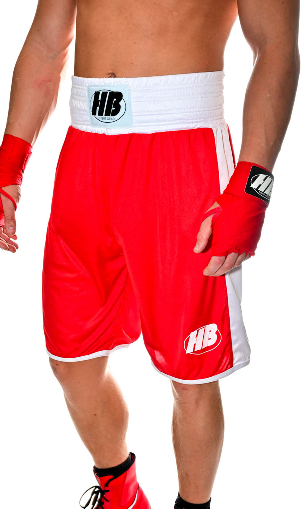 RED-BOXING-SHORTS